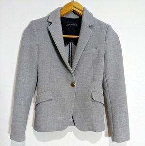 Zara Woman Textured Knit Blazer Gold Buttons Small